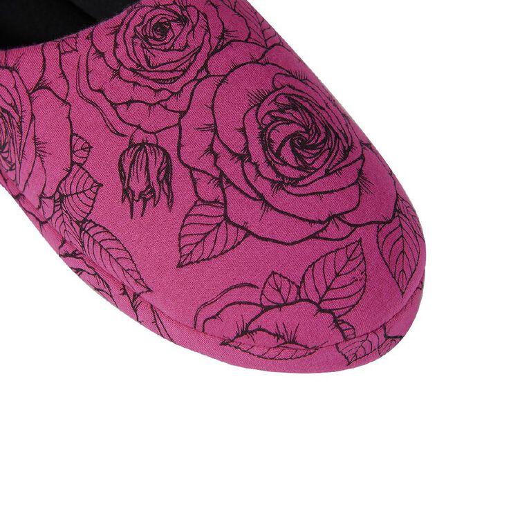 H&H Printed Scuffs, Pink Dark, hi-res