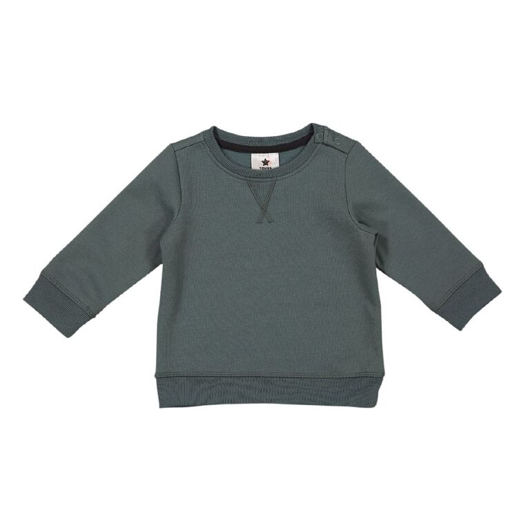 Young Original Baby Plain Patch Sweatshirt, Blue Mid NORTH ATLA, hi-res