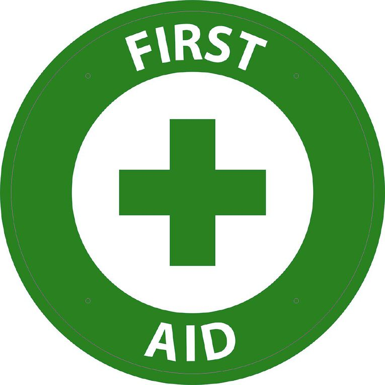 WS First Aid Circle Sign Large 600mm x 600mm, , hi-res