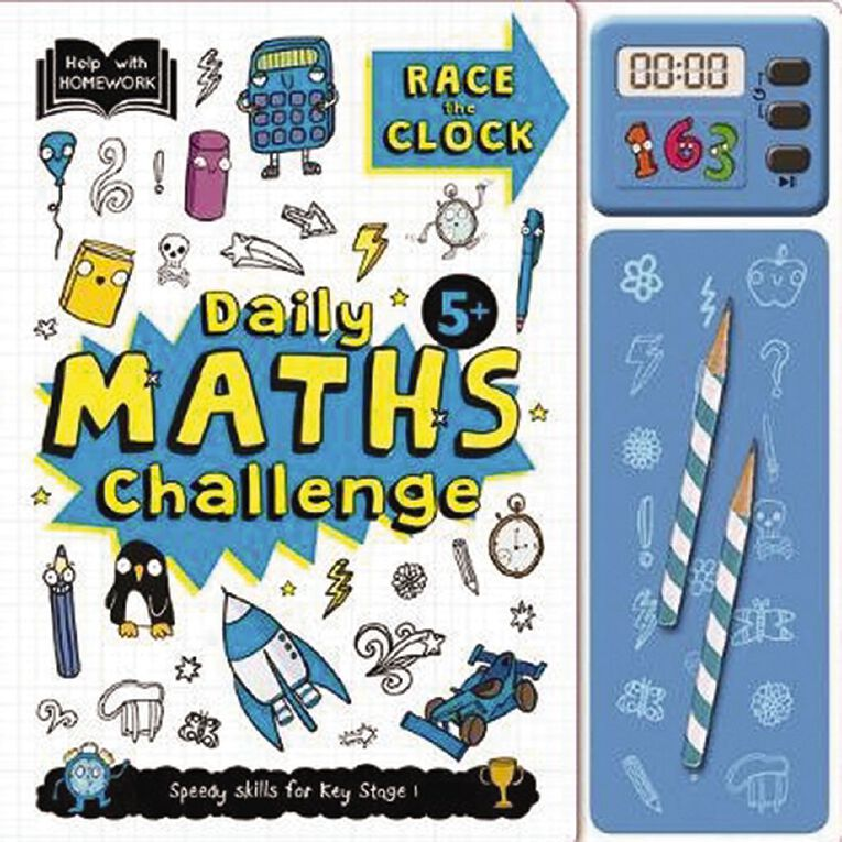 Help With Homework: 5+ Daily Maths Challenge, , hi-res