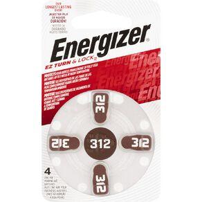 Energizer Hearing Aid Batteries AZ312 4 Pack