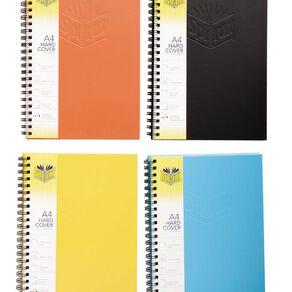 Spirax Notebook 512 A4 Wiro Hardcover 200pg Assorted