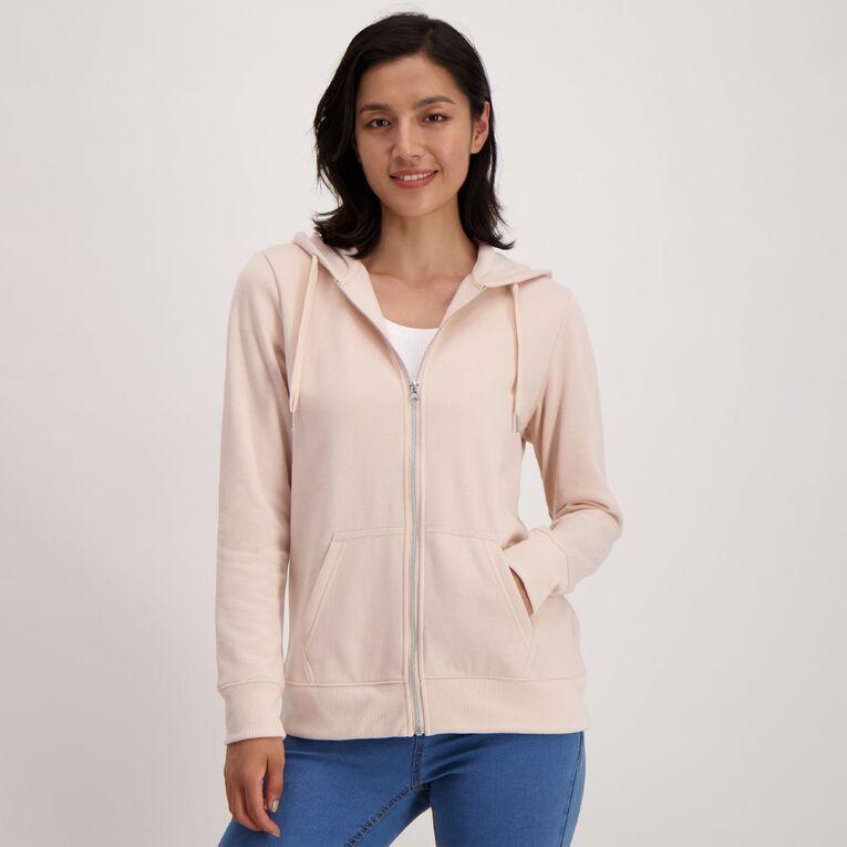 H&H Women's Zip Thru Sweatshirt, Pink Mid, hi-res