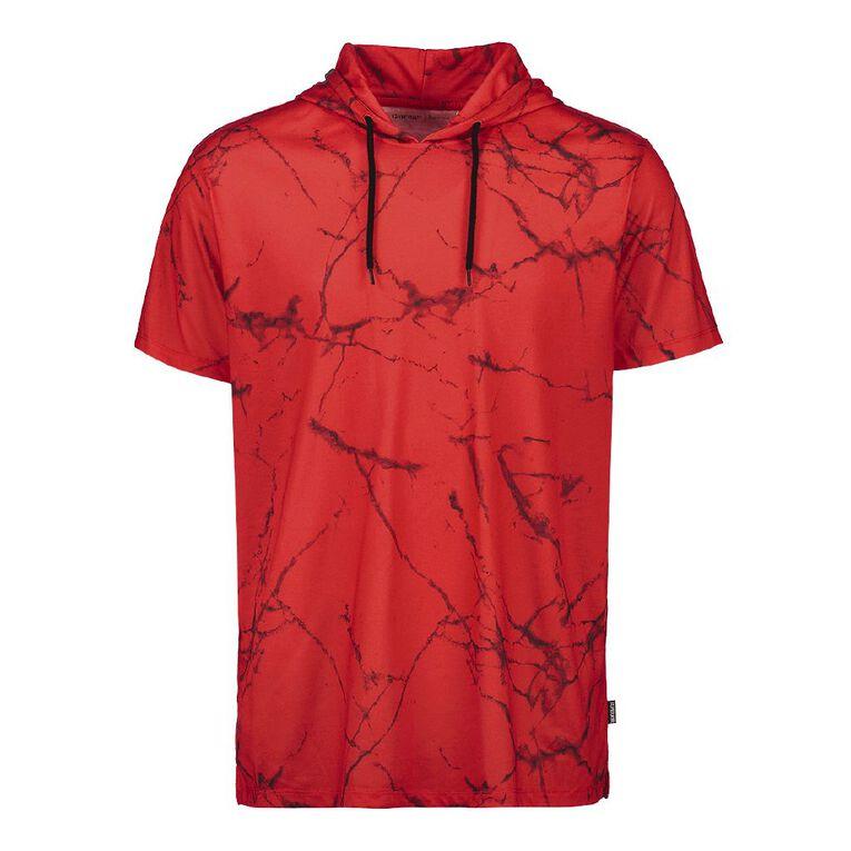 Garage Men's All Over Print Hooded Tee, Red, hi-res
