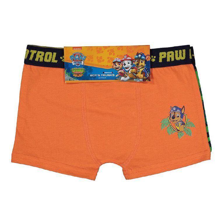 Paw Patrol Boy's Trunks 2 Pack, Orange, hi-res