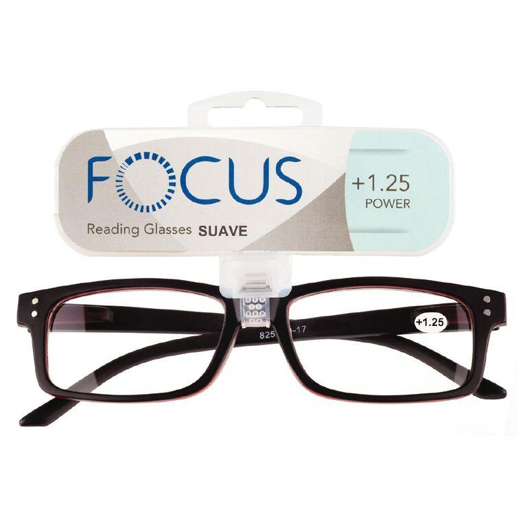Focus Reading Glasses Men's Suave Power 1.25, , hi-res