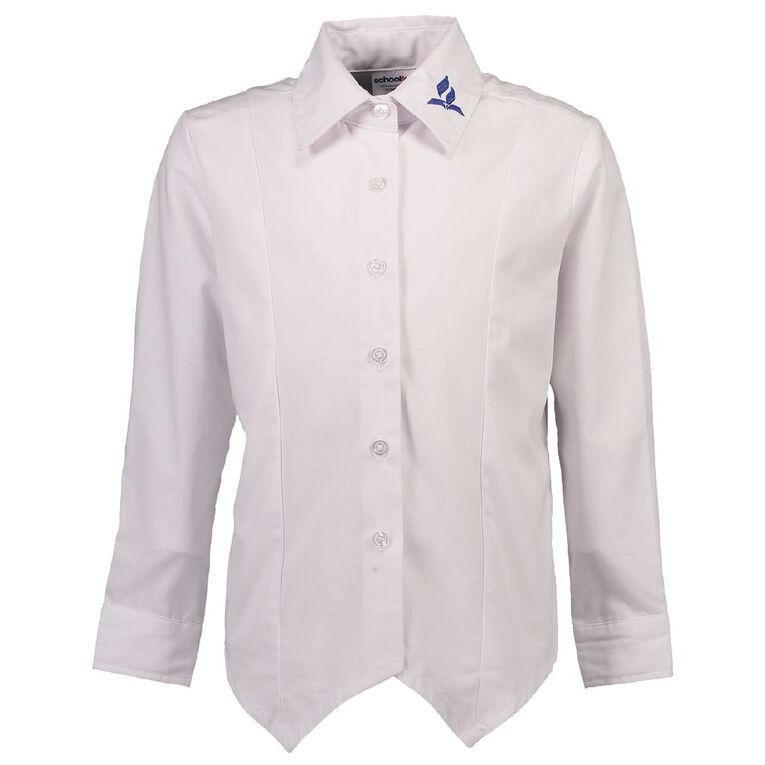 Schooltex SDA Long Sleeve Blouse with Embroidery, White, hi-res