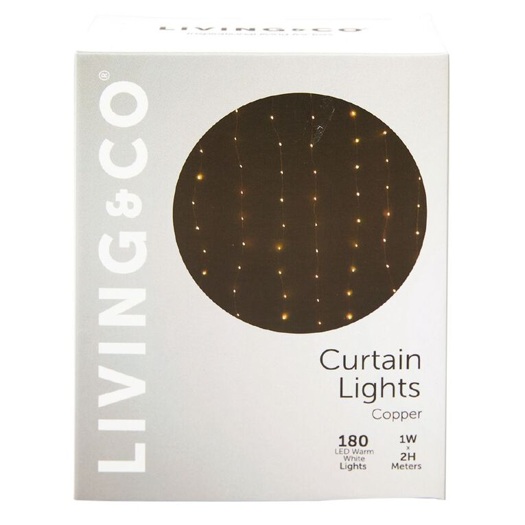 Living & Co Curtain Twinkle Light Copper 2m, , hi-res