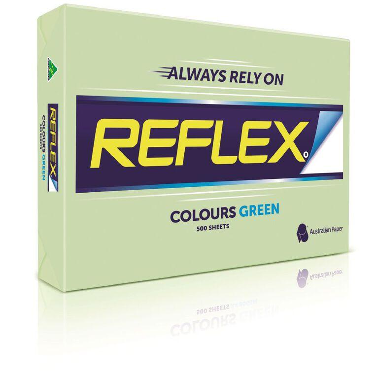 Reflex Paper 80gsm Tints 500 Pack Green A3, , hi-res