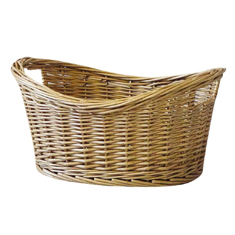 Living & Co Gift Basket with Handles Oval Natural, , hi-res