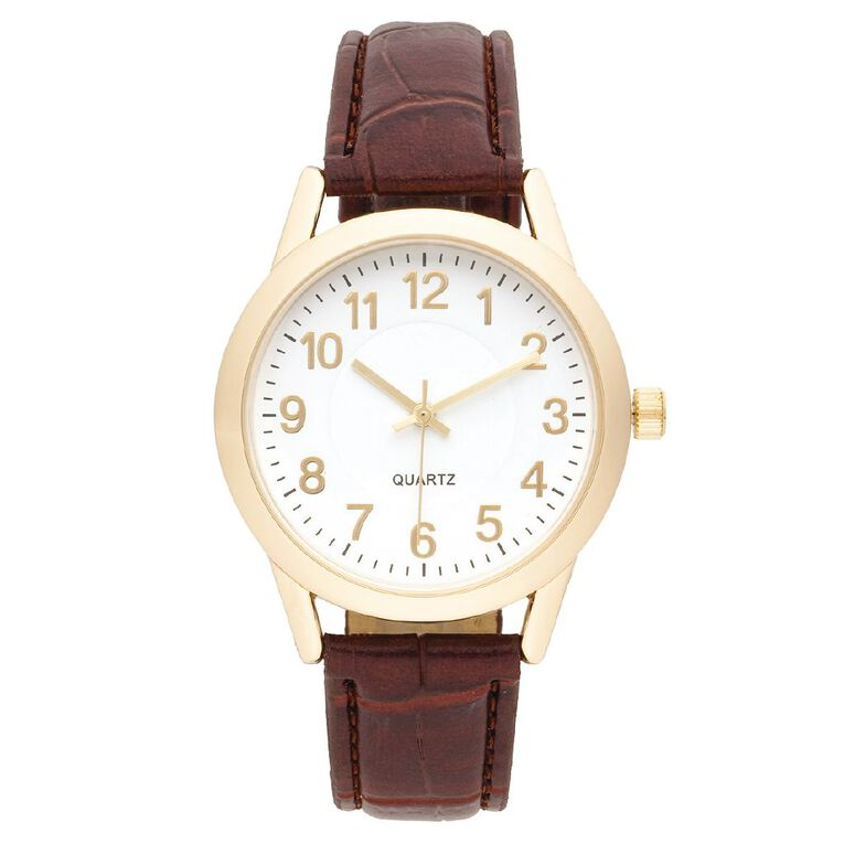 Eternity Men Classic Analogue Watch Brown Gold, , hi-res