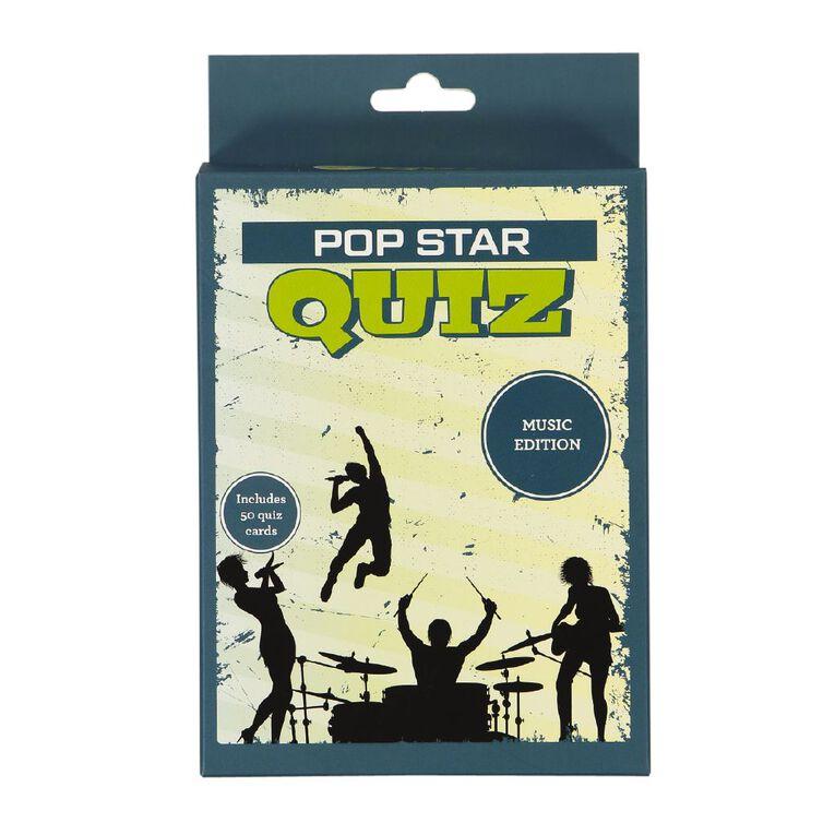 Popstar Quiz Card Game, , hi-res