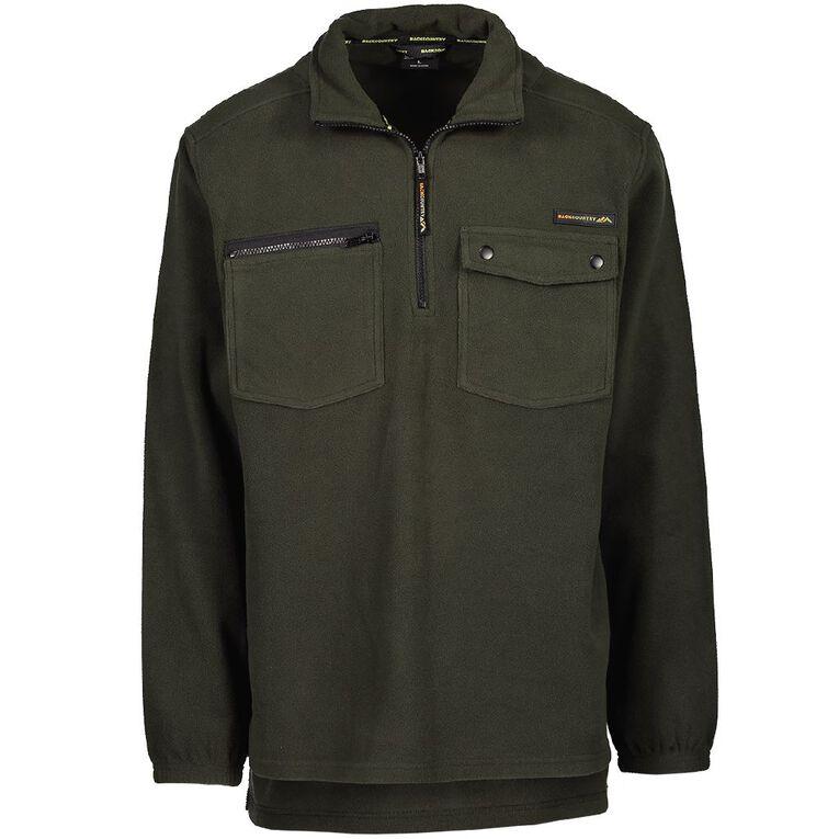 Back Country Men's 1/4 Zip Fleece Sweatshirt, Green, hi-res