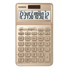 Casio JW200SCGD Desktop 12 Digit Calculator Stylish Gold