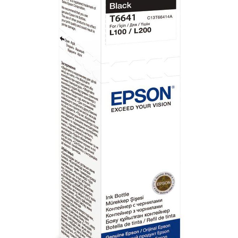 Epson Ink T6641 Black 70ml Bottle (4500 Pages), , hi-res