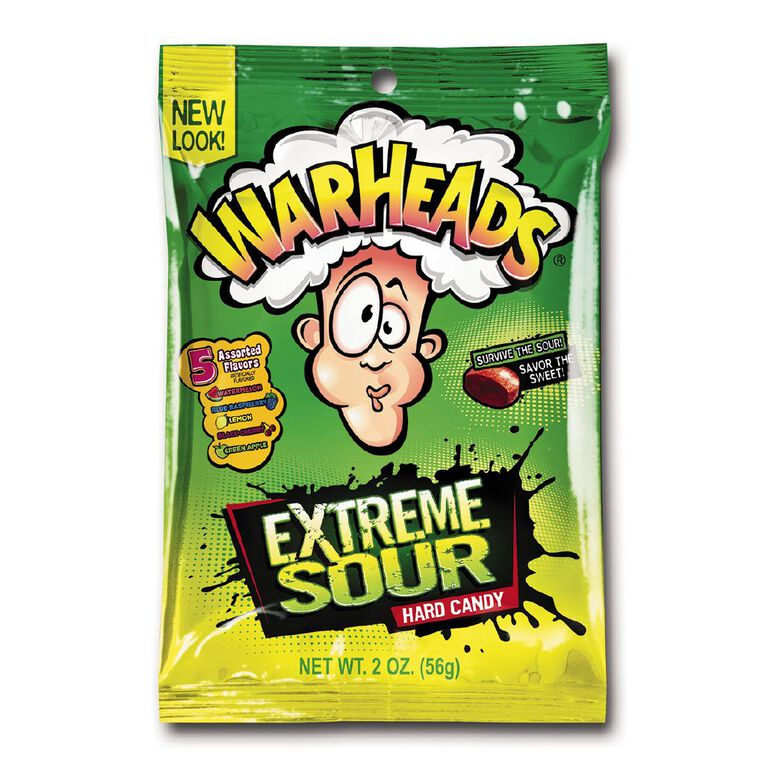 Warheads Extreme Sour Hard Candy 56g, , hi-res
