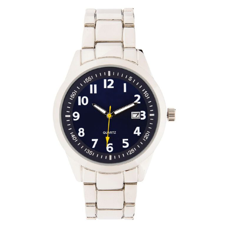 Eternity Men Classic Analogue Steel Watch Silver Blue, , hi-res