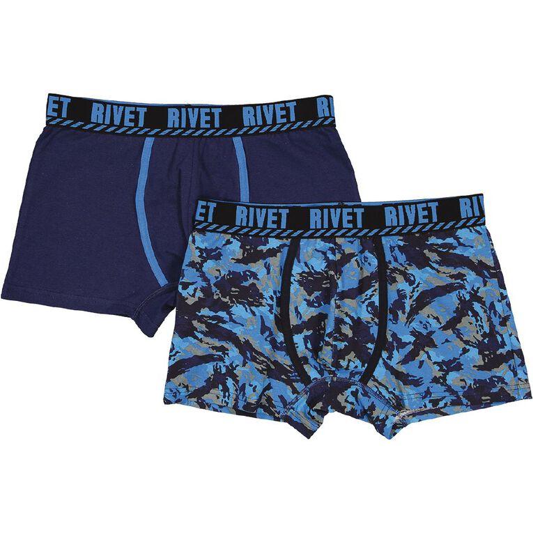 Rivet Men's Trunks 2 Pack, Blue, hi-res image number null