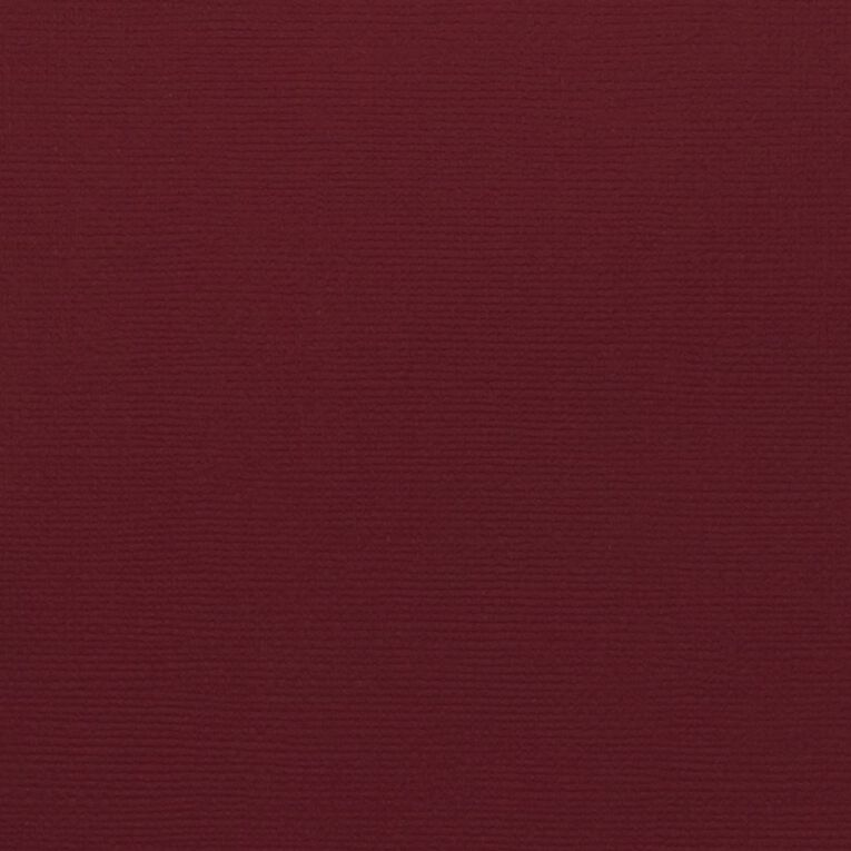 American Crafts Cardstock Textured Rouge Red 12in x 12in, , hi-res