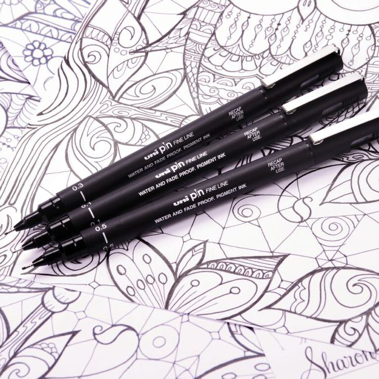 Uni PIN Fineliner 0.3 Black, , hi-res