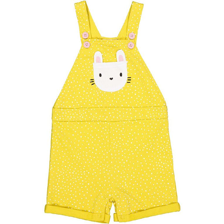 Young Original Baby Printed Overall, Yellow Mid, hi-res