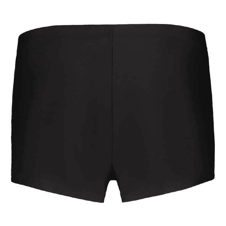 H&H Plus Swim Women's Basic Boyleg Shorts, Black, hi-res