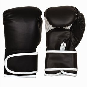 Active Intent Fitness Boxing Glove Pvc Black 10oz