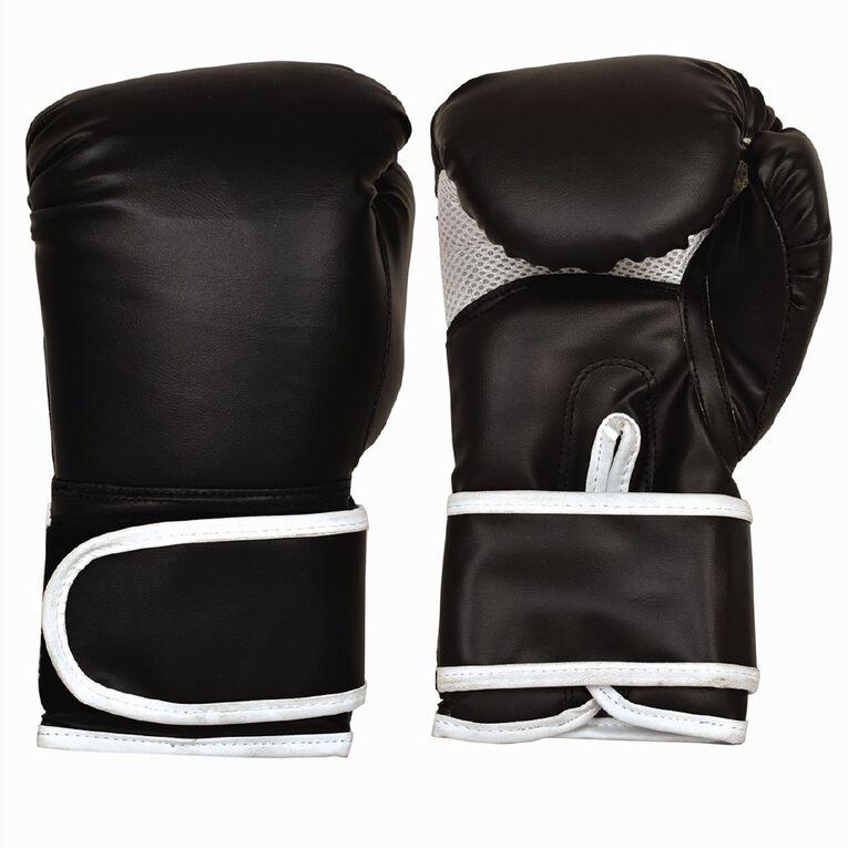 Active Intent Fitness Boxing Glove Pvc Black 10oz, , hi-res