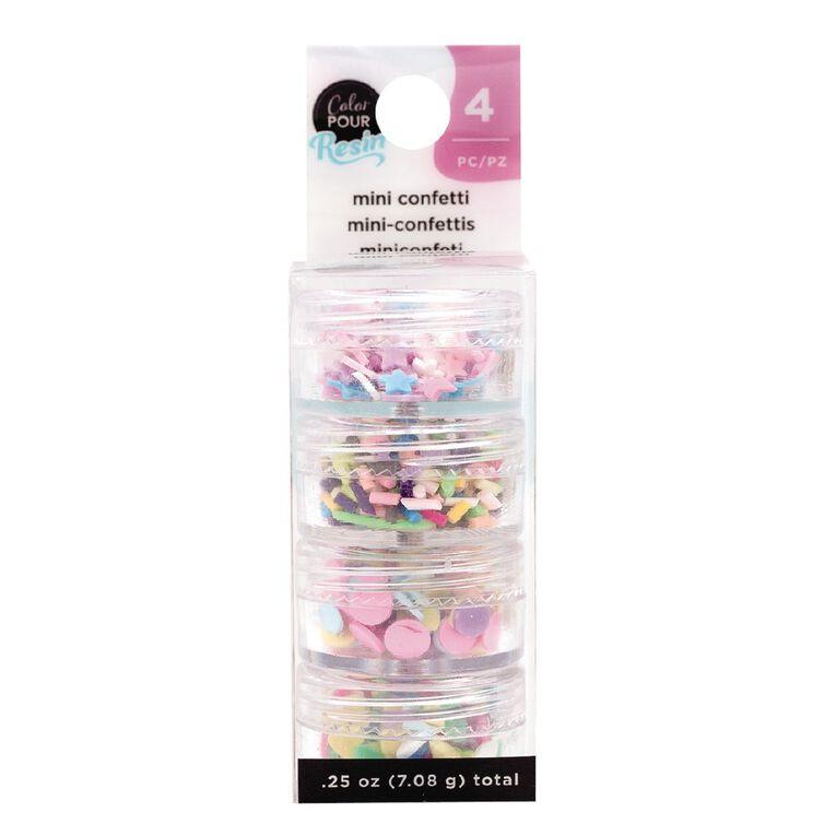 American Crafts Color Pour Mix-Ins  Mini Confetti Pastel 4 Pack, , hi-res