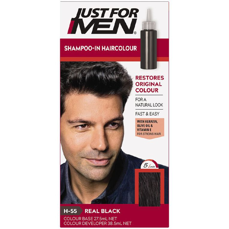 Just For Men Hair Colour Real Black, , hi-res image number null