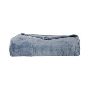 Living & Co Blanket Plush Mirage Blue Queen
