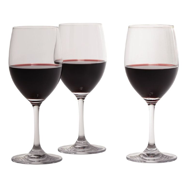 Living & Co Traditional Red Wine Glass 6 Pack 450ml, , hi-res