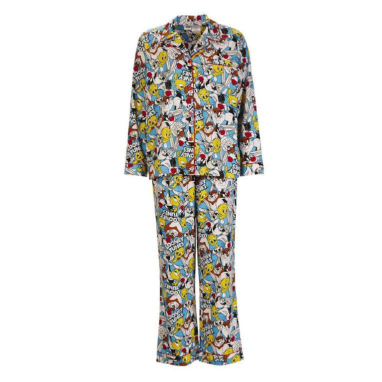 Bugs Bunny Women's Flannalette Pyjama Set, Blue, hi-res