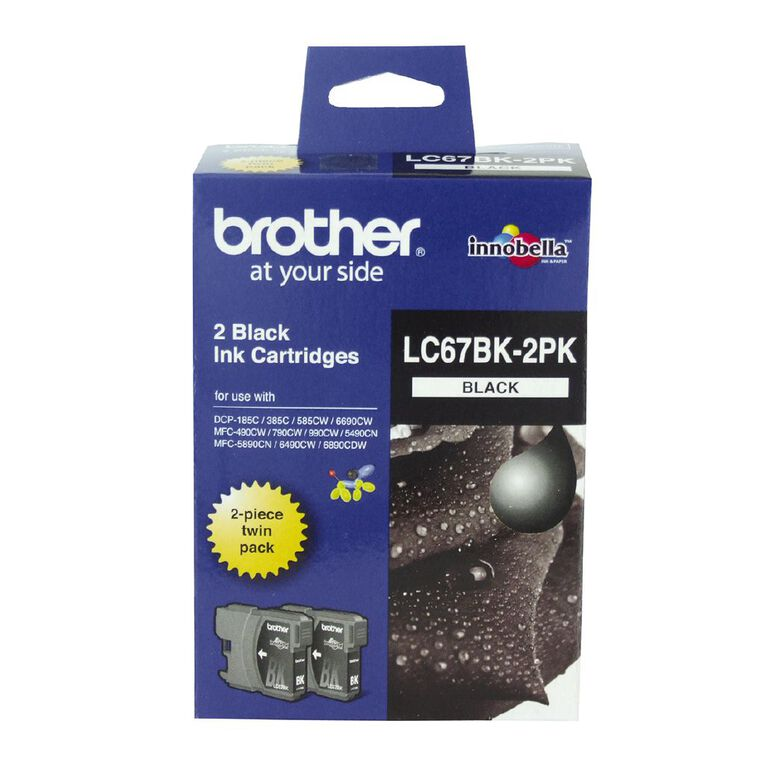Brother Ink LC67 Black 2 Pack (450 pages), , hi-res