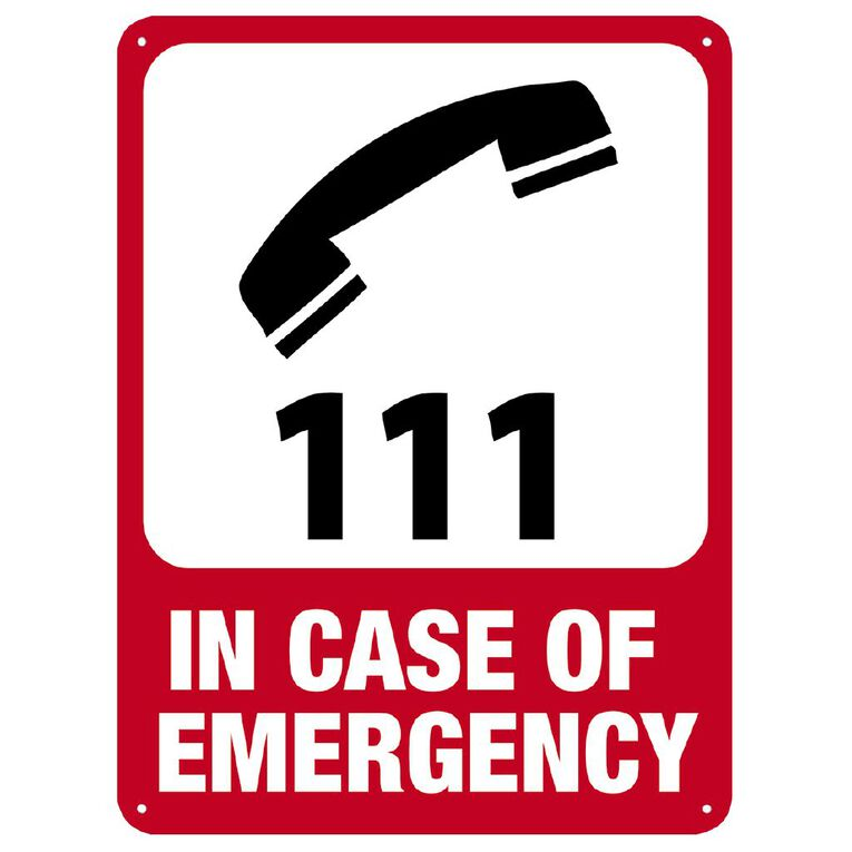 WS In Case of Emergency Sign Large 600mm x 450mm, , hi-res