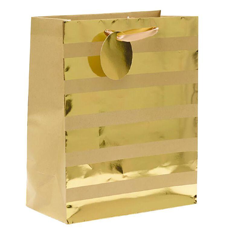 John Sands Gift Bag Stripes Gold Large, , hi-res