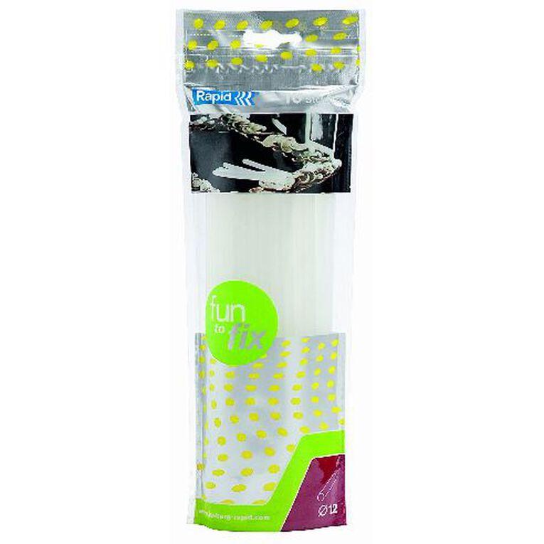 Rapid Glue Gun Sticks 12mm x 190mm 10 Pack Clear, , hi-res