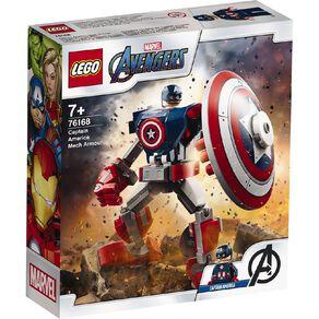 LEGO Marvel Super Heroes Captain America Mech Armor 76168