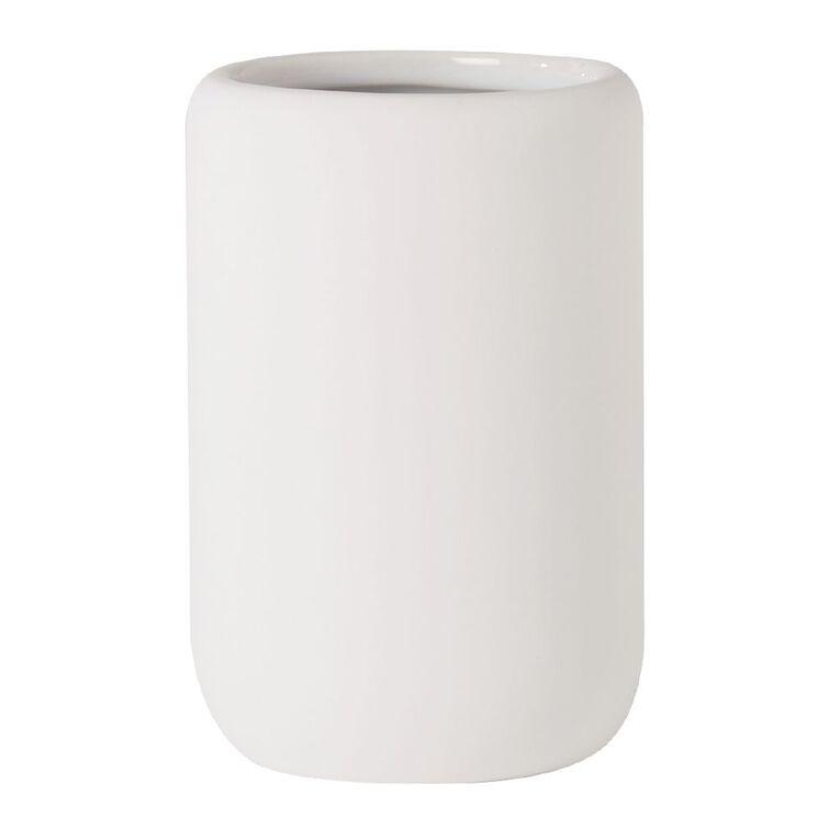 Living & Co Tumbler Ceramic White 350ml, White, hi-res