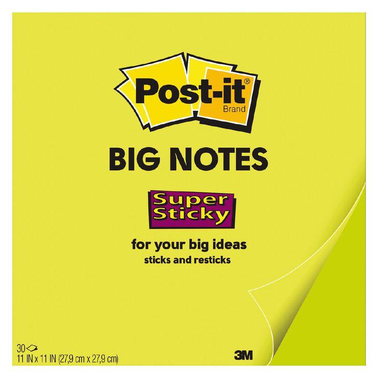 3M Post-It Note Big Green 279mm x 279mm, , hi-res