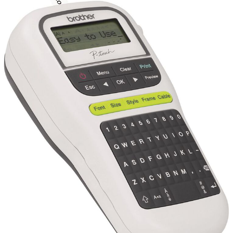 Brother PTH110W P-Touch Label Maker White, , hi-res