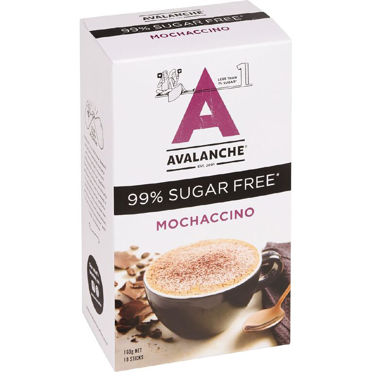 Avalanche 99% Sugar Free Mochaccino 10pk, , hi-res