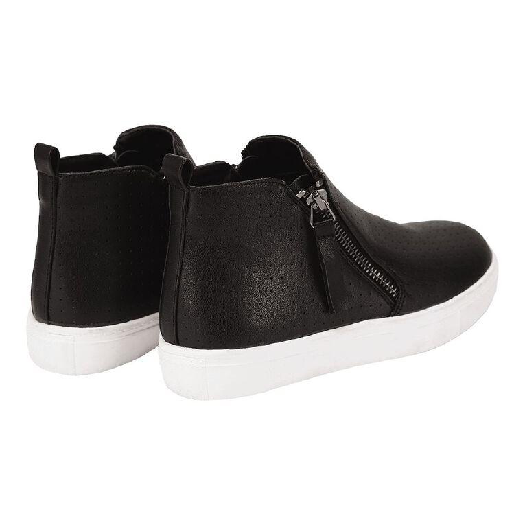 Young Original Zip Kids' Casual Shoes, Black, hi-res