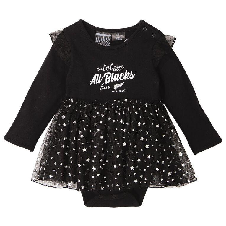 All Blacks Tutu Romper, Black, hi-res