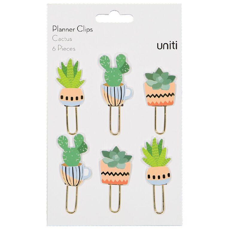 Uniti Planner Clips Cactus, , hi-res