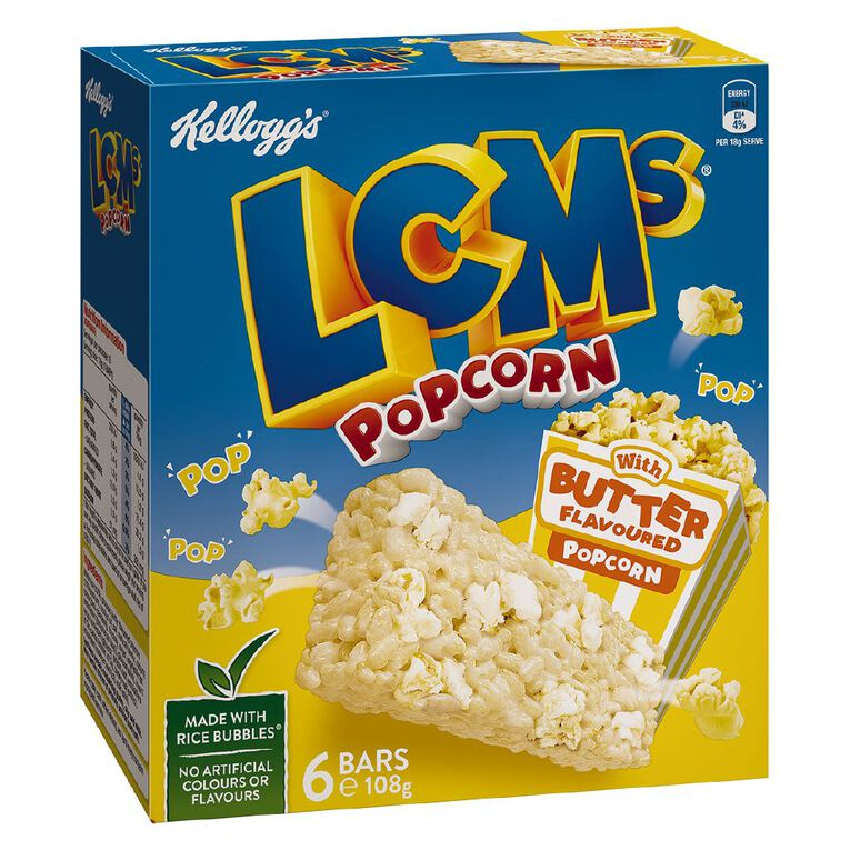 Kelloggs LCMs Butter Popcorn Bars 6pk, , hi-res image number null