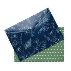 Uniti Kiwi Breeze Document Wallet 2 Pack Green A4