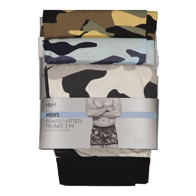 H&H Men's Camo Trunks 3 Pack, Mixed Assortment, hi-res