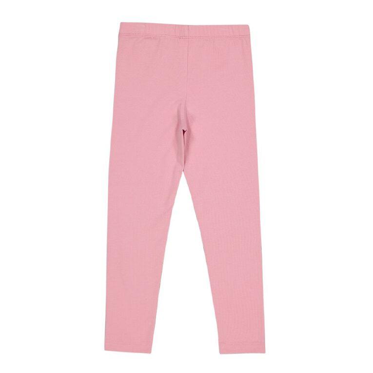 Young Original Plain Coloured Leggings, Pink Mid, hi-res