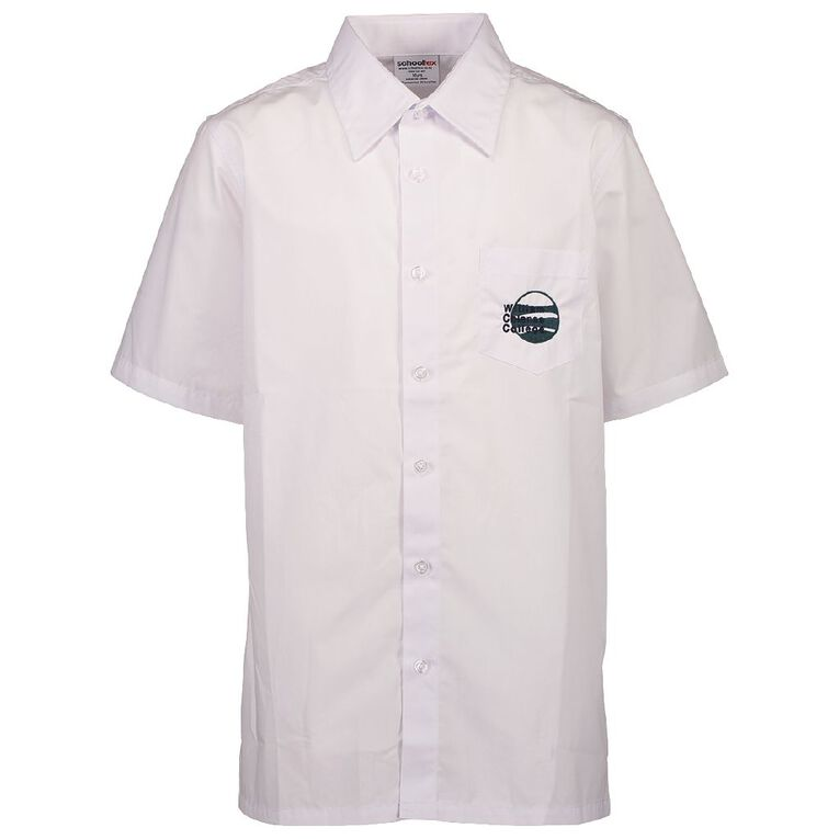 Schooltex William Colenso College Int Short Sleeve Shirt with Embroidery, White, hi-res